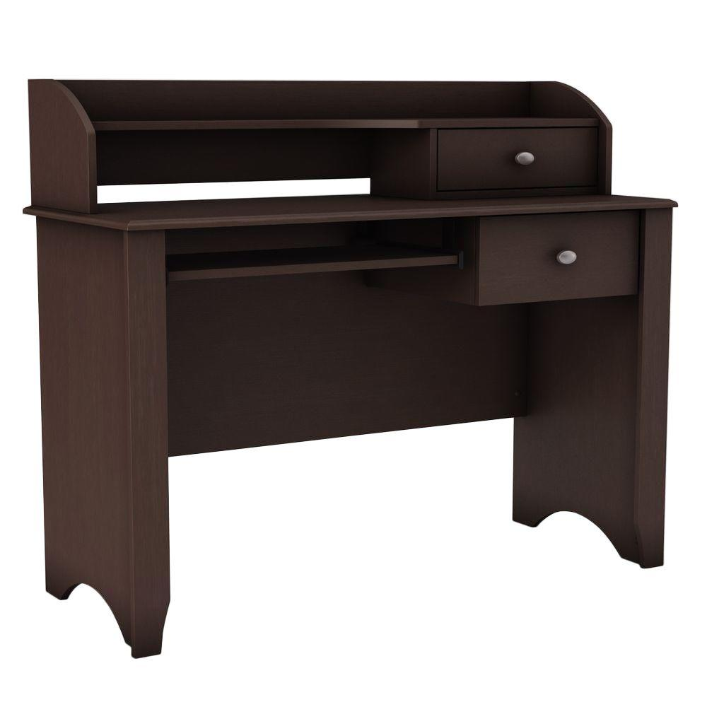 South Shore Compact Fit Secretary Desk in Chocolate