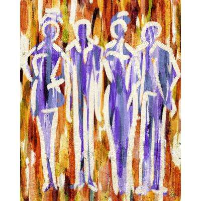 """11 in. x 14 in. """"Abstract Group Orange"""" Acrylic Wall Art Print"""