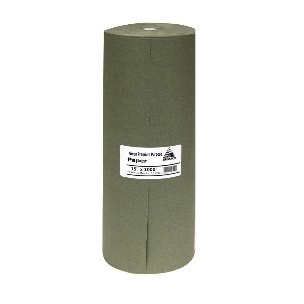 Easy Mask 15 IN. X 1000 FT. Green Premium Masking Paper
