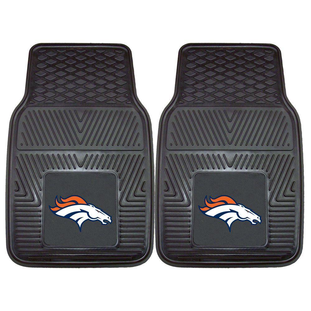 Denver Broncos 18 in. x 27 in. 2-Piece Heavy Duty Vinyl Car Mat