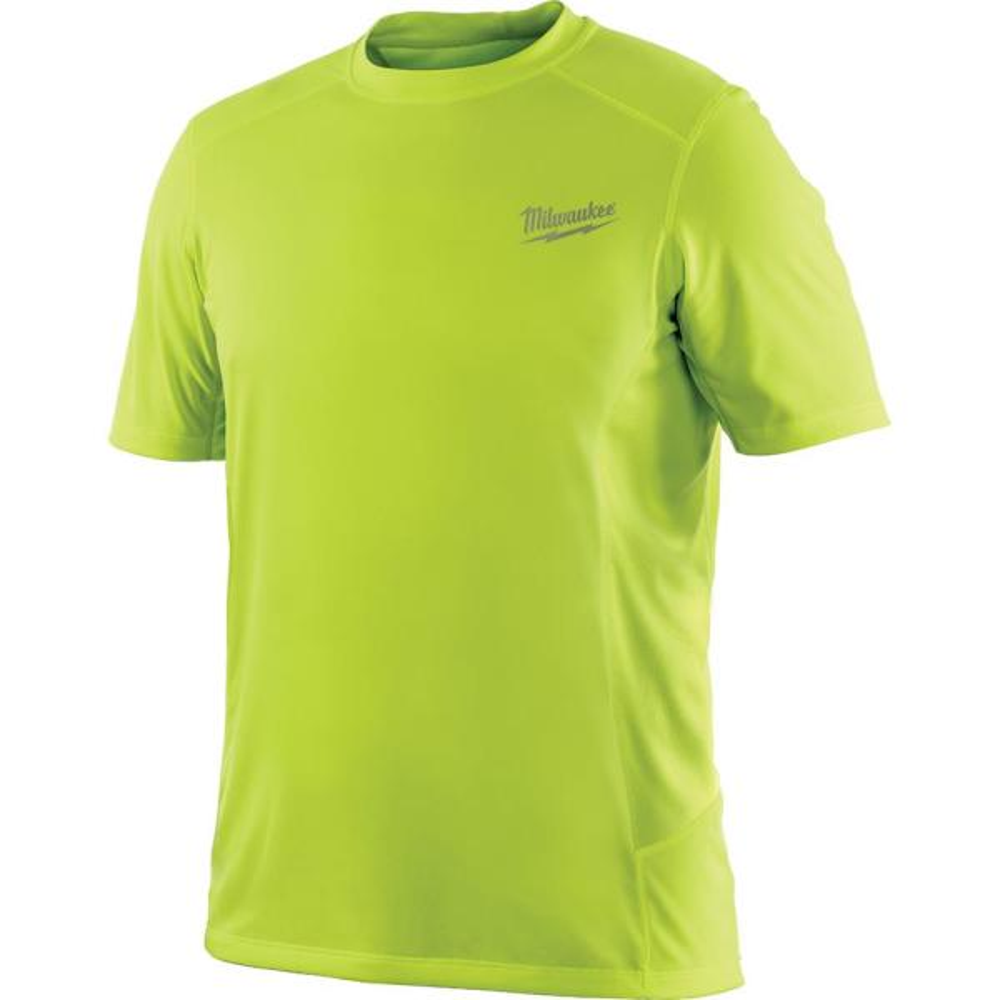 Men's Large Workskin High Visibility Yellow Light Weight Performance Shirt