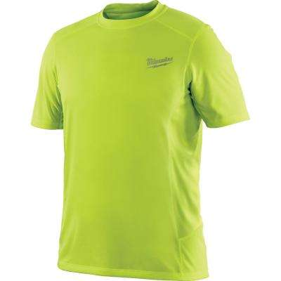 Men's Large Workskin High Visibility Yellow Light Weight Performance Shirt