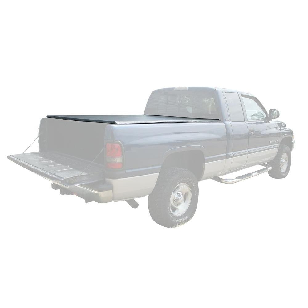 PRO-SERIES 77 in. x 69 in. 25 lb. Vinyl Tonneau Truck Bed Cover for Dodge Ram