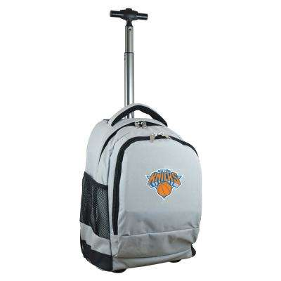 NBA New York Knicks 19 in. Gray 19 in. Gray Wheeled Premium Backpack