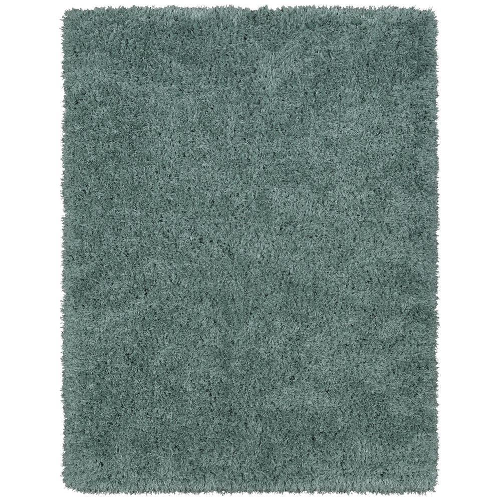 Ottomanson Pure Fuzzy Flokati Sage Green 5 Ft. X 7 Ft