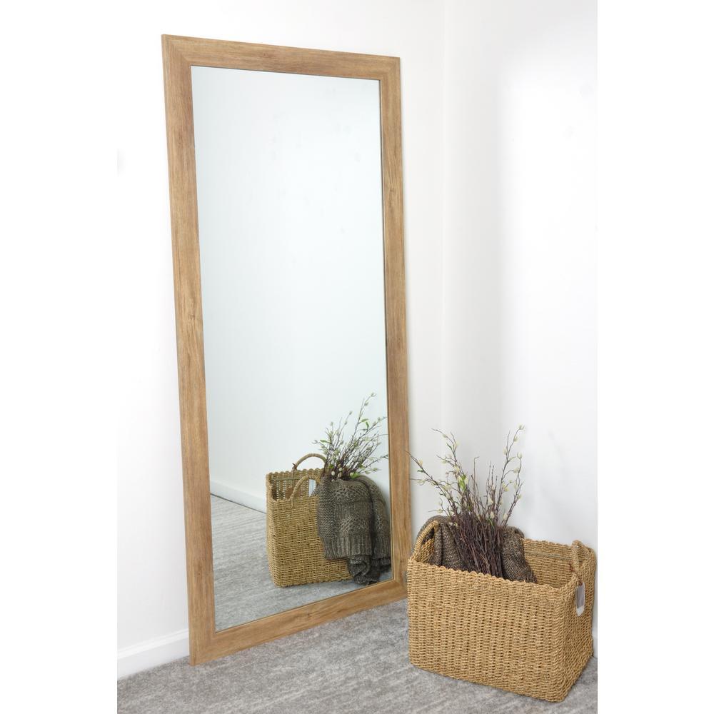 Brandtworks Blonde Barnwood Full Length Floor Wall Mirror Bm034ts The Home Depot