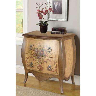 bombay 2drawer natural accent chest