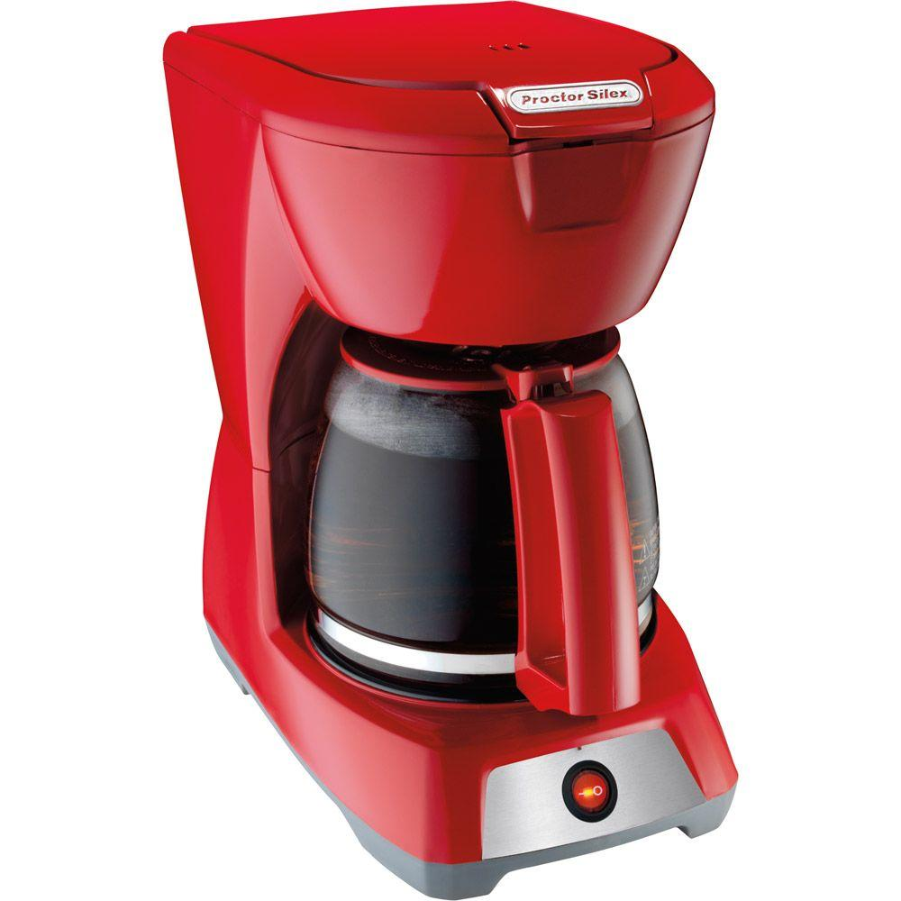 Proctor Silex 12-Cup Coffeemaker in Red-DISCONTINUED