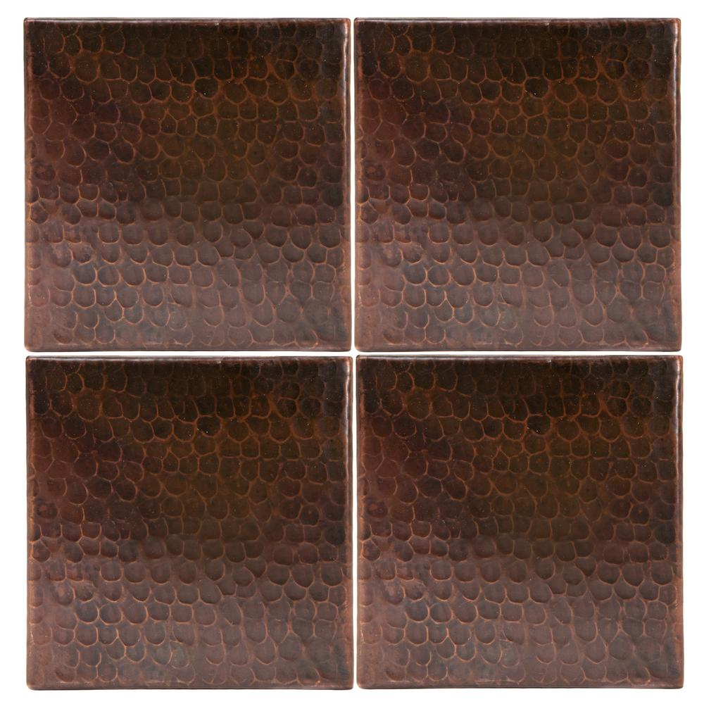 - Premier Copper Products 6 In. X 6 In. Hammered Copper Decorative