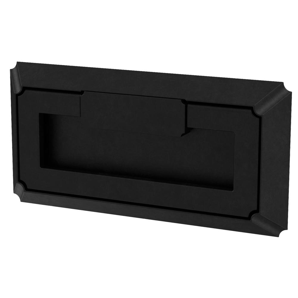 Liberty Modern Notched 3 in. (76 mm) Flat Black Campaign Cabinet Drawer Pull