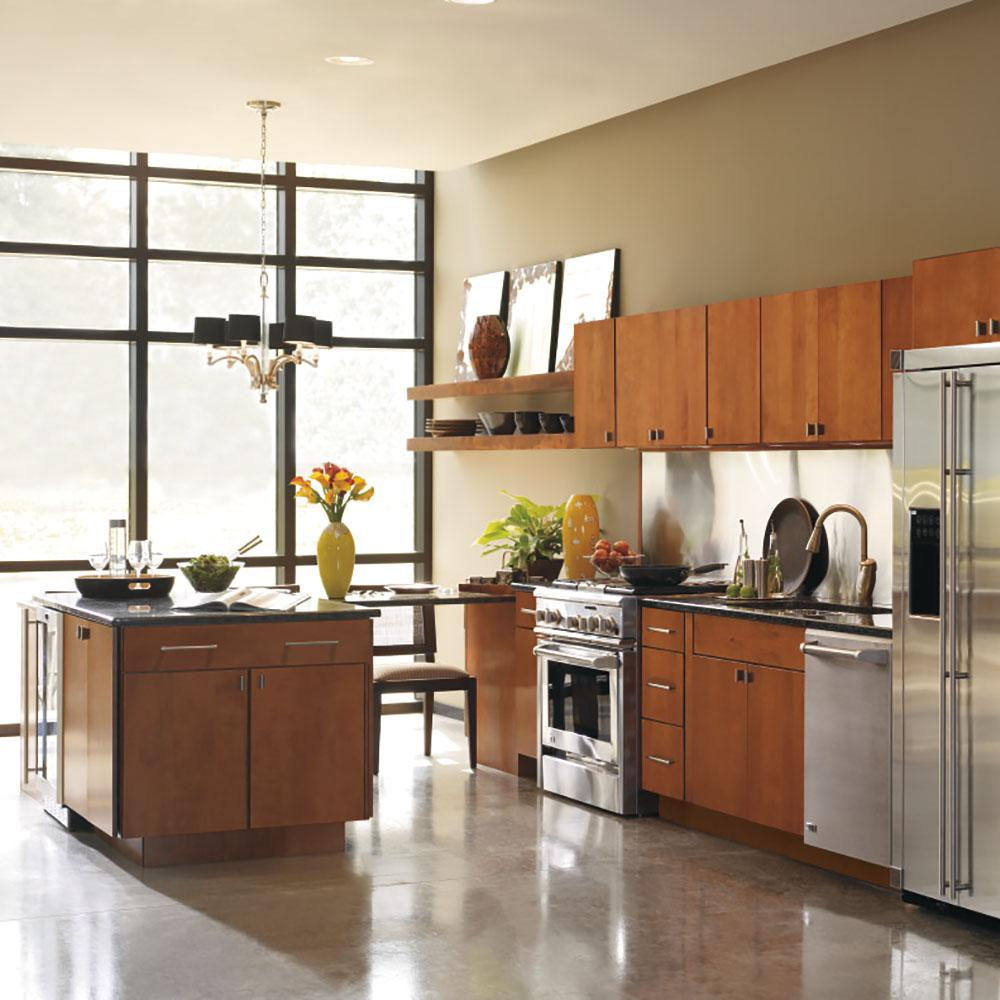 Thomasville Classic Custom Kitchen Cabinets Shown In Industrial Style Hdinstpw The Home Depot