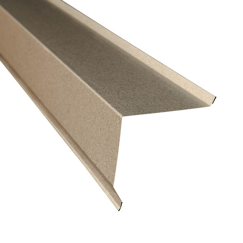 metal sales 5 in x 105 ft gable flashing trim in galvalume - Metal Roof Flashing
