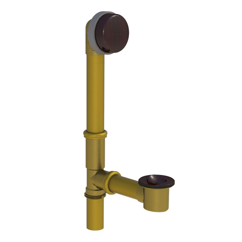 591 Series 16 in. Tubular Brass Bath Waste with PresFlo Bathtub