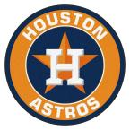 MLB Houston Astros Orange 2 ft. x 2 ft. Round Area Rug