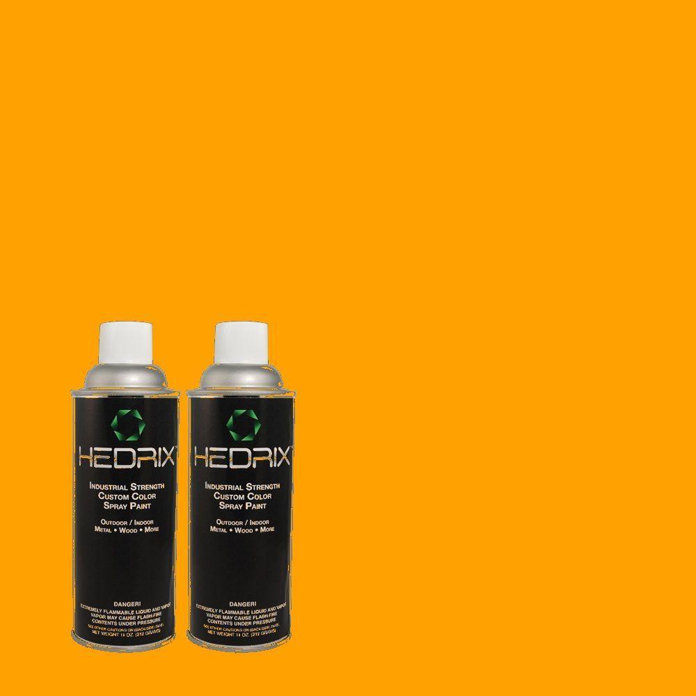 Hedrix 11 oz. Match of S-G-290 Orange Peel Flat Custom Spray Paint (2-Pack)