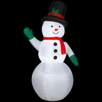 2.75 ft. W x 7 ft. H Inflatable Snowman with Holiday Top Hat