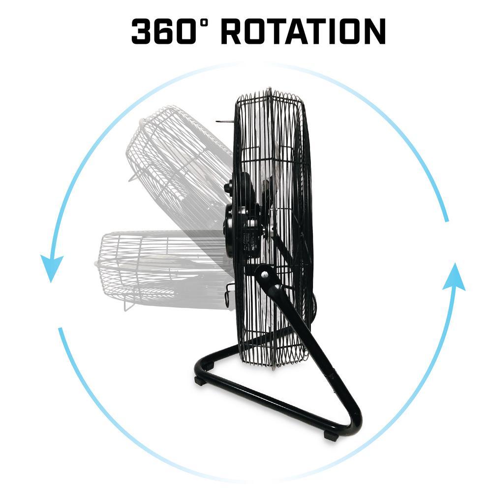B-Air FIRTANA 20X 3-Speed Indoor//Outdoor Multi-Purpose High Velocity Floor Fan