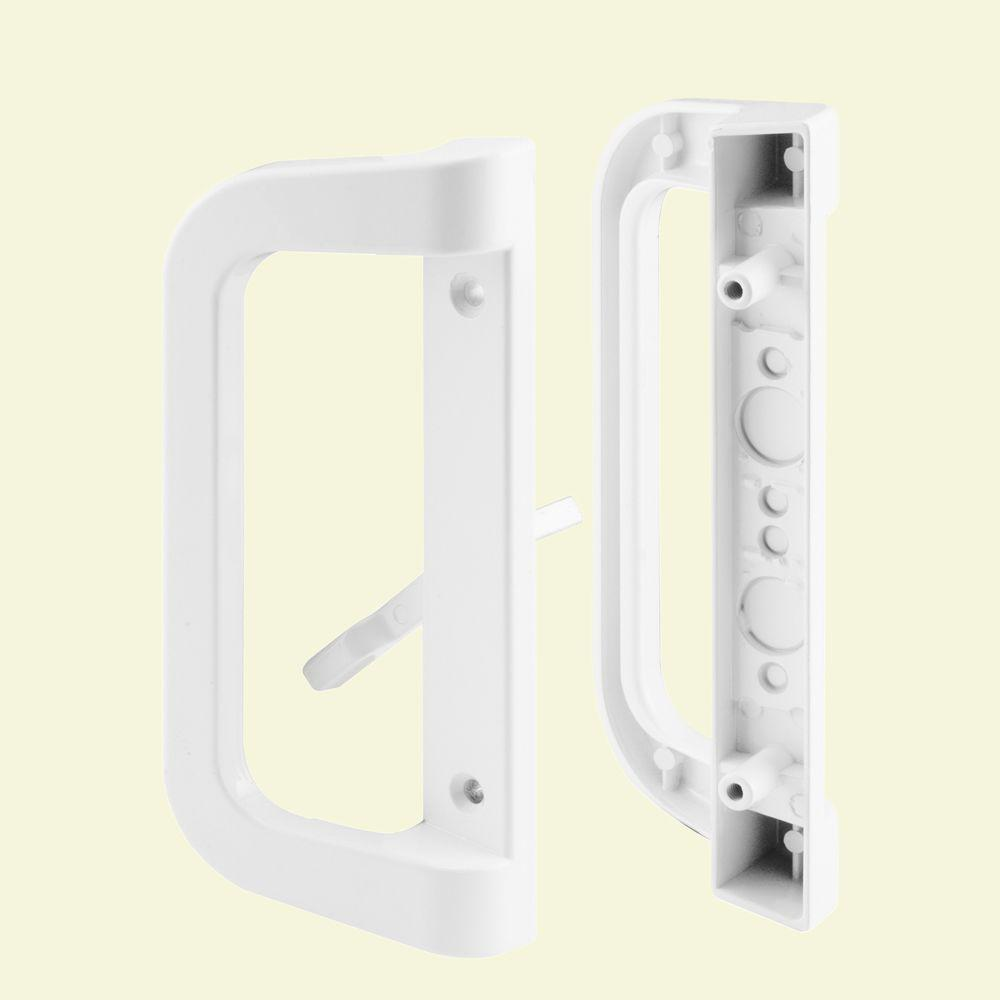 Prime-Line White Sliding Door Handle Set
