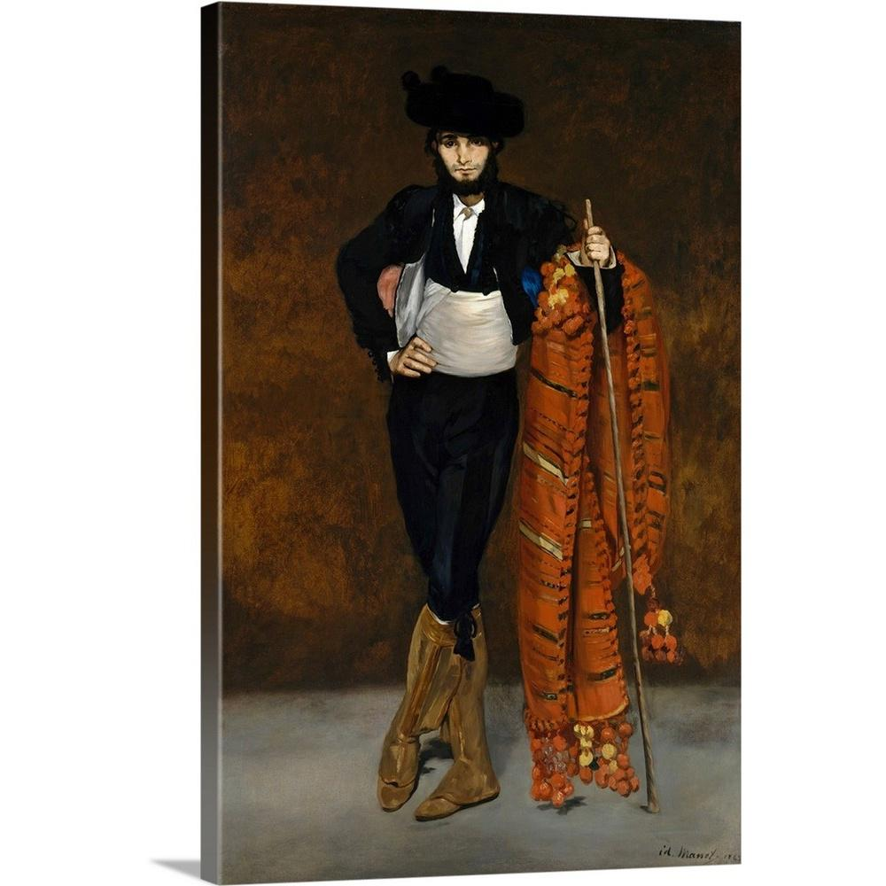 Greatbigcanvas young man in the costume of a majo by edouard 1832 1883 manet canvas wall art 2477734 24 20x30 the home depot