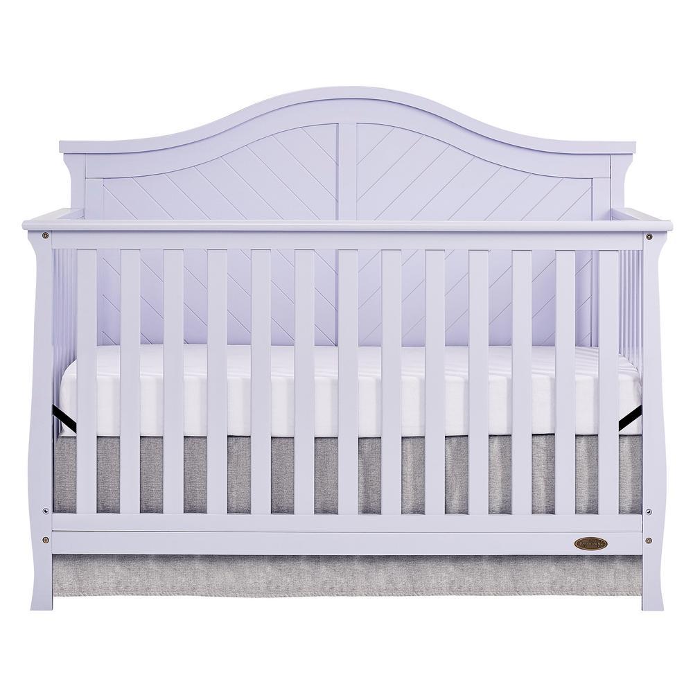 Dream On Me Kaylin Lavender Ice 5-in-1 Convertible Crib-730-LI - The ...