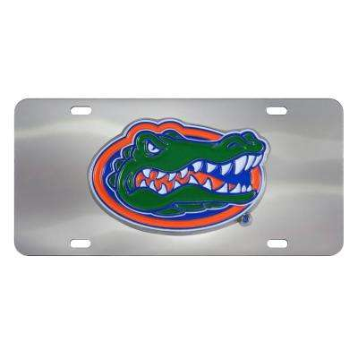 6 in. x 12 in. NCAA University of Miami Stainless Steel Die Cast License Plate