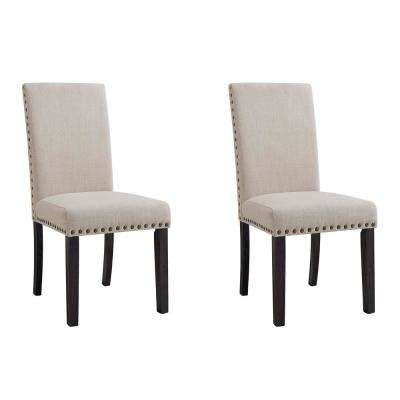 Bradley Dark Walnut Upholstered Side Chair Set