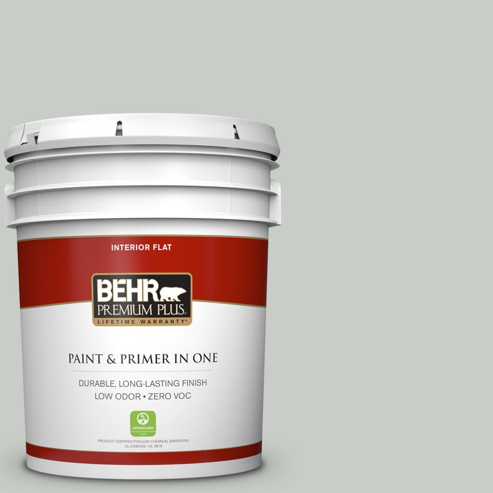 5 gal. #PWL-89 Silver Setting Flat Zero VOC Interior Paint and
