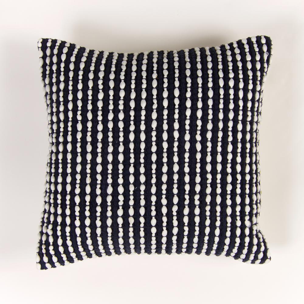 Handwoven Textured Pillow in Navy