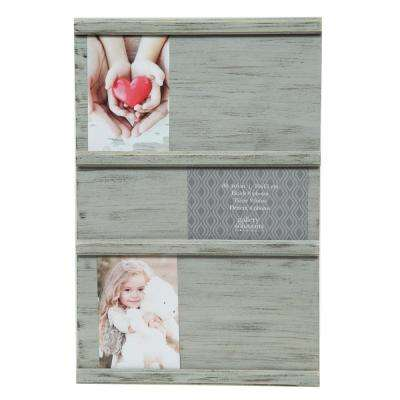 Sliding Collage Gray Picture Frame