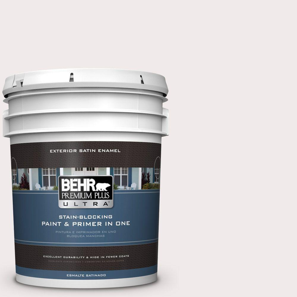 BEHR Premium Plus Ultra 5-gal. #790A-1 White Dogwood Satin Enamel Exterior Paint