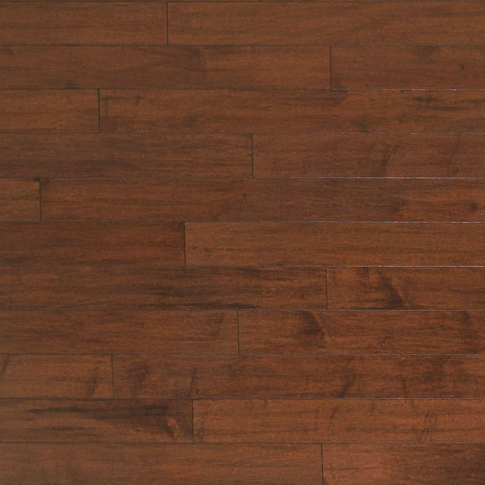 Heritage mill scraped maple rodeo 3 8 in thick x 4 3 4 in for Click hardwood flooring