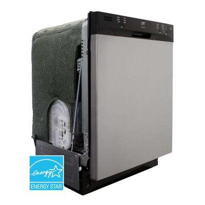ENERGY STAR 24 in. Built-In Dishwasher with Heated Drying in Stainless