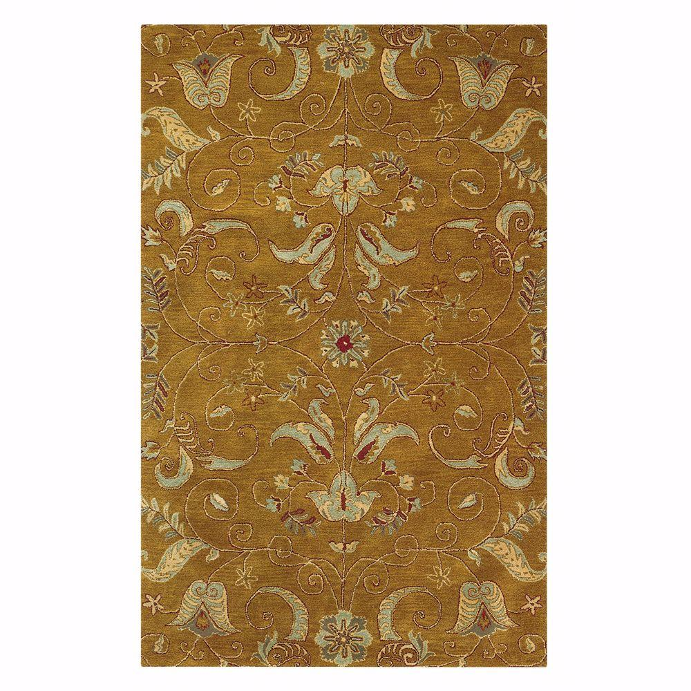 Home Decorators Collection Ansley Dark Gold 8 ft. x 11 ft. Area Rug
