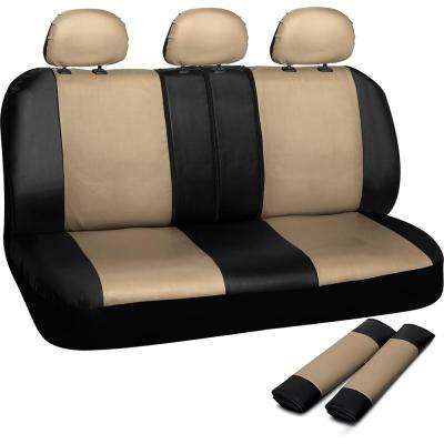 Polyurethane Bench Seat Cover in 21.5 in. L x  23 in. W x 31 in. H  Bench Seat Cover in Beige and Black
