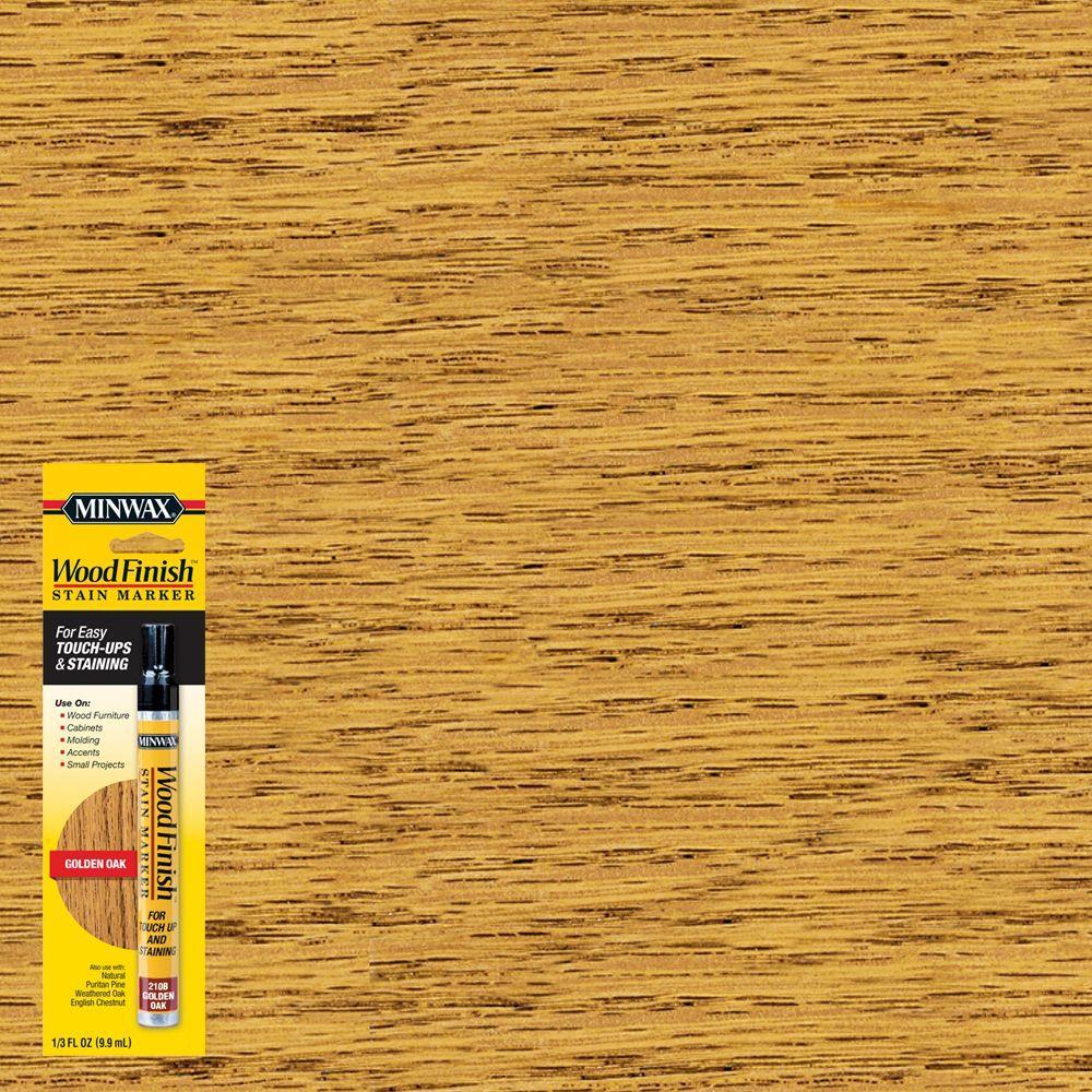 Minwax 1 3 Oz Wood Finish Golden Oak Stain Marker 63481