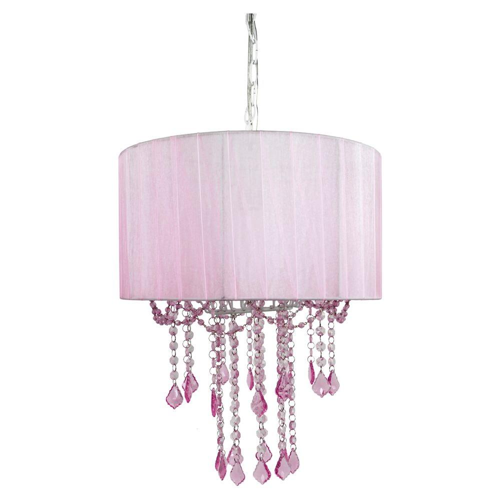 Tadpoles 1 Light Pink Chandelier Shade