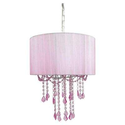 1-Light Pink Chandelier Shade