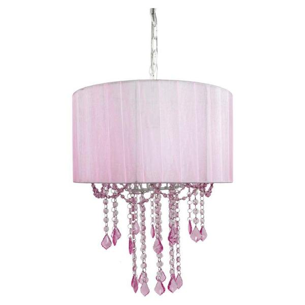 Tadpoles 1 Light Pink Chandelier Shade
