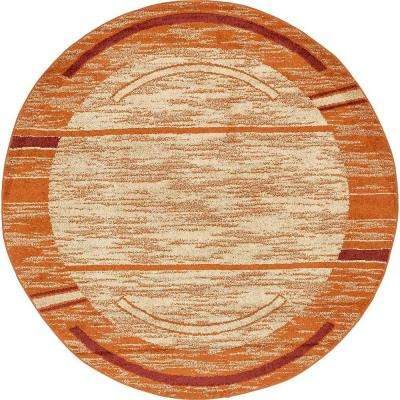 Harvest Terracotta 8 ft. x 8 ft. Round Area Rug