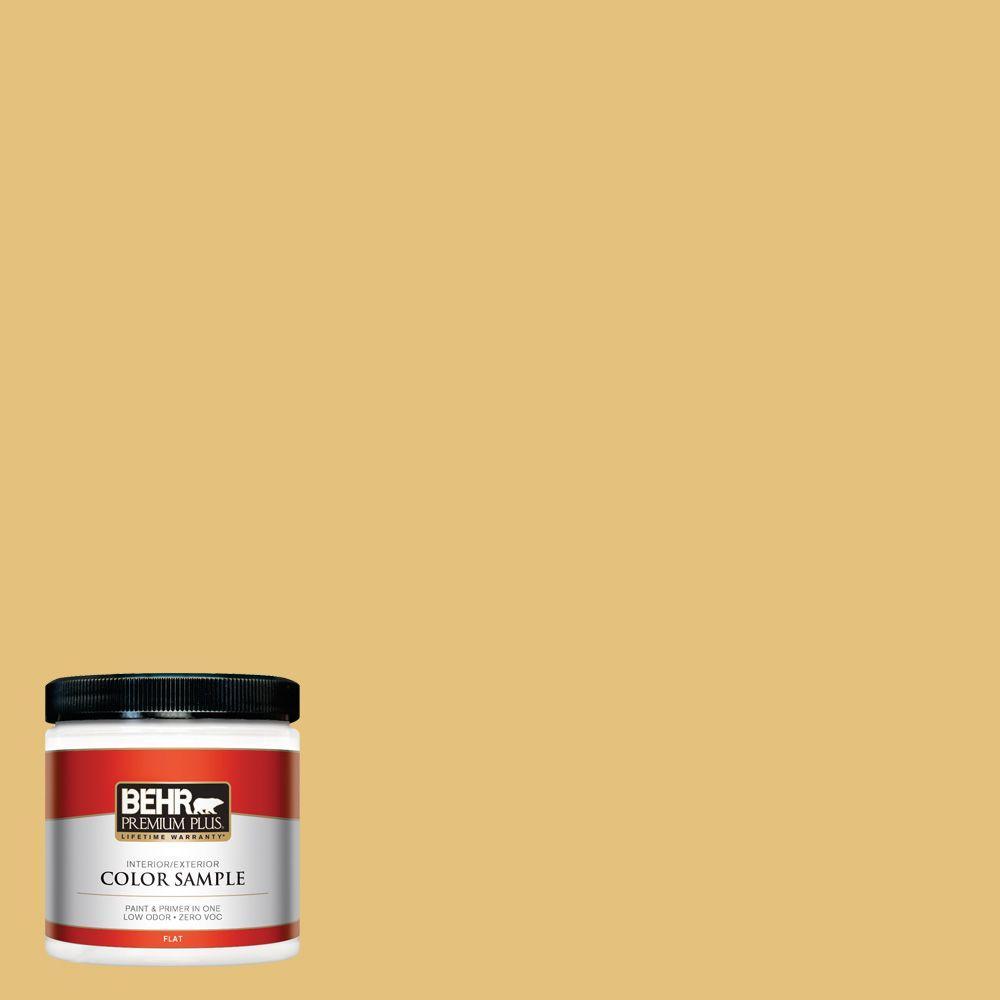 BEHR Premium Plus 8 oz. #370D-5 Summer Field Interior/Exterior Paint Sample