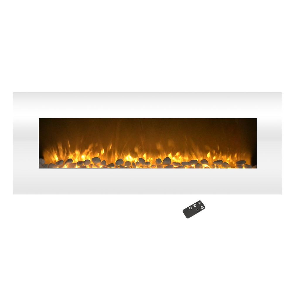 Bring the luxury and modern comfort of a real fire place to your home with this stunning 50 in. Electric Fireplace