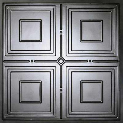 Jackson Black 2 ft. x 2 ft. Lay-in or Glue-up Ceiling Panel (Case of 6)