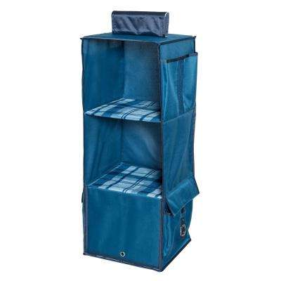 Back to School 3-Shelf Polyester Hanging Organizer in Blue