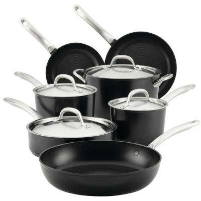 Ultimum Forged Aluminum Nonstick Cookware, 11-Piece Set, Black