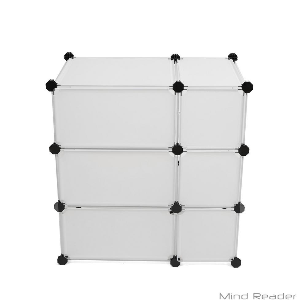 Mind Reader 23.43 in. W x 24.21 in. H White Stackable 6-Cube Organizer