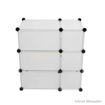 23.43 in. W x 24.21 in. H White Stackable 6-Cube Organizer