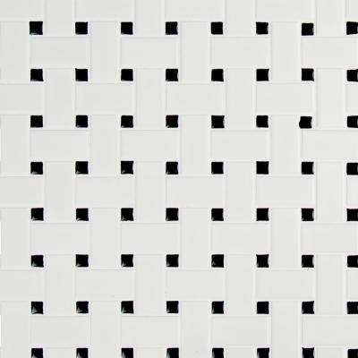 Retro Weave Bianco 11.73 in. x 11.73 in. x 6 mm Porcelain Mesh-Mounted Mosaic Tile (14.4 sq. ft. / case)