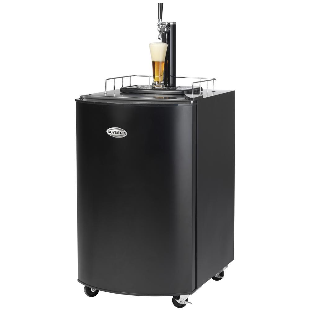 Nostalgia Kegorator Beer Keg Fridge in Black-KRS2100 - The Home Depot