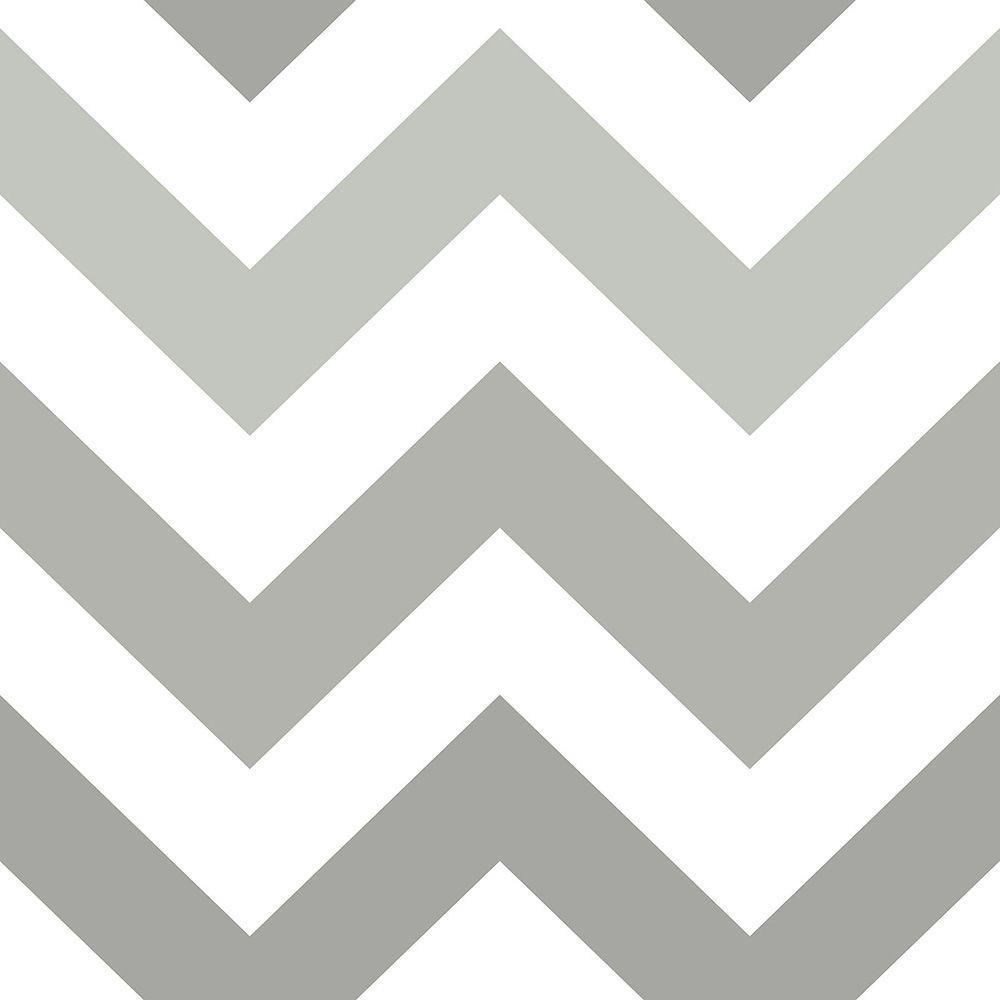 Nuwallpaper Grey Zig Zag Peel And Stick Wallpaper Nu1934