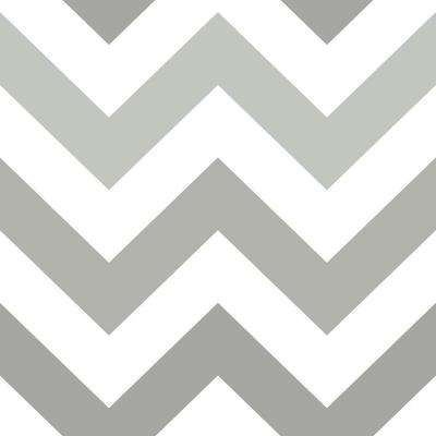 Grey Zig Zag Peel and Stick Wallpaper